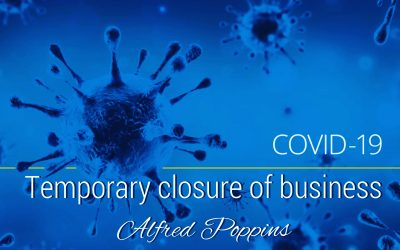 Temporary closure of business due to COVID-19